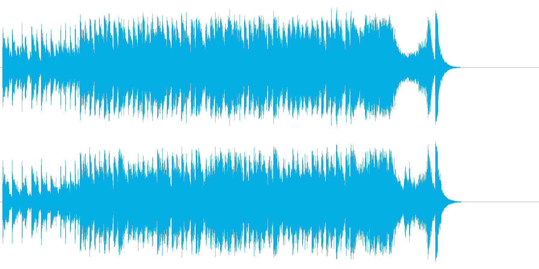 和やかなポップ BGM(イントロ~サビ)の再生済みの波形