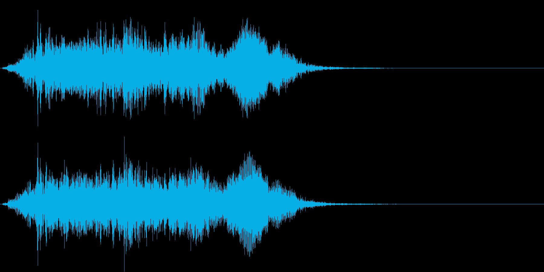 象の鳴き声1 パオーンの再生済みの波形