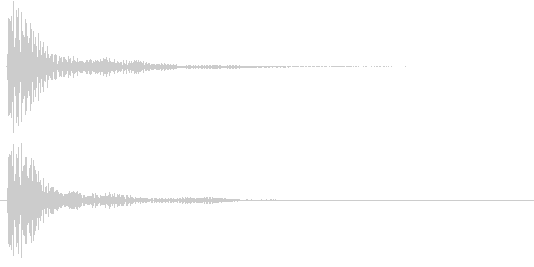 マリンバのクリック音です。の未再生の波形
