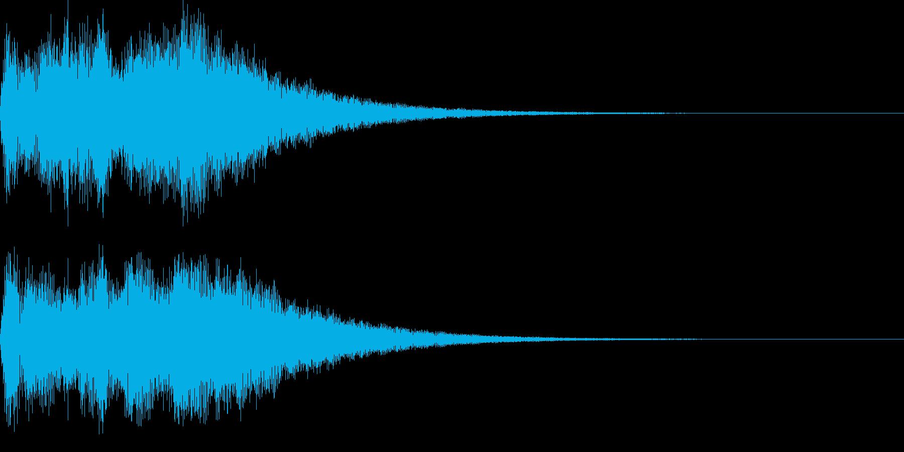 サウンドロゴ07の再生済みの波形