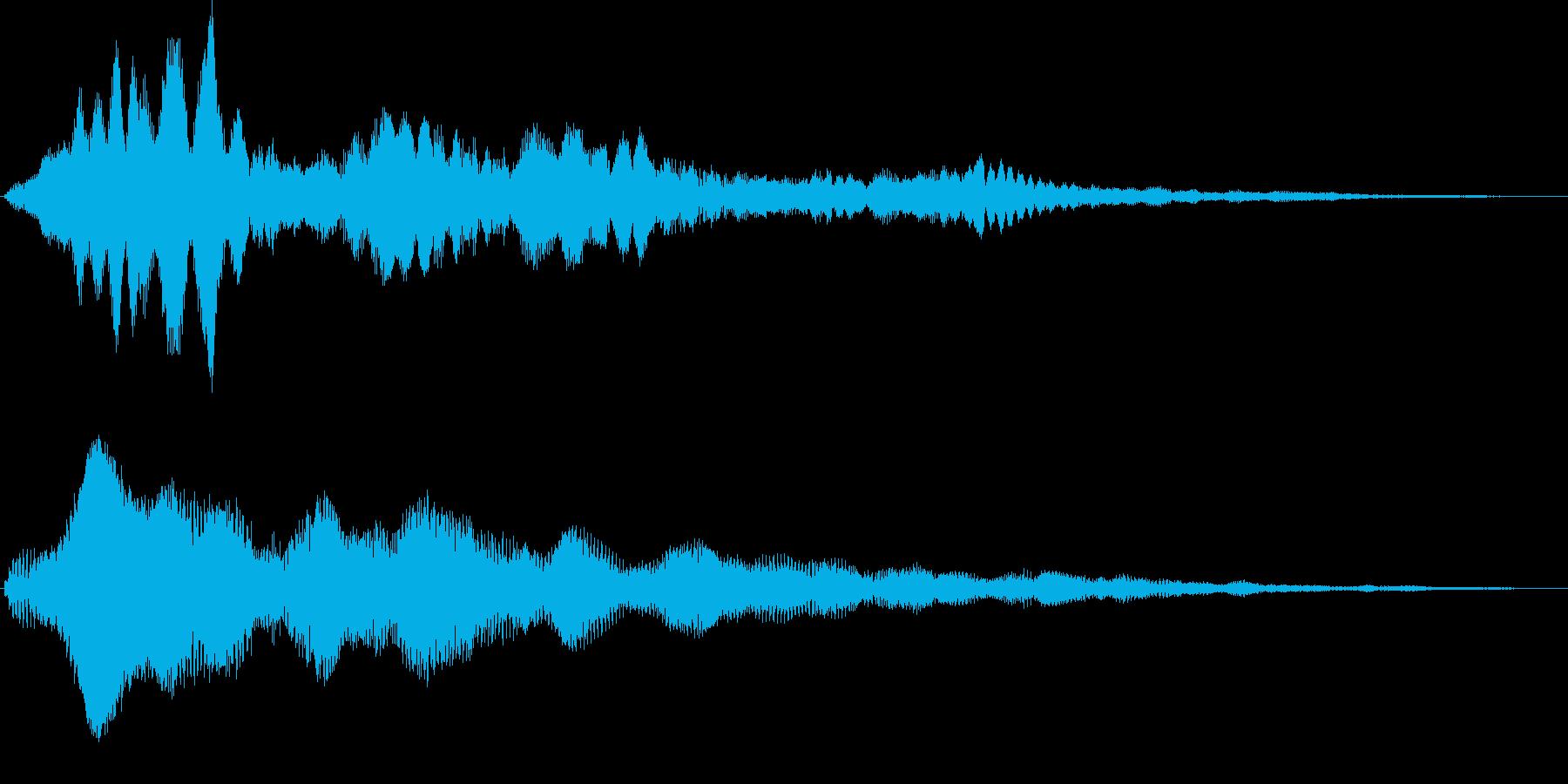 キラリラーン キラキラ系サウンドロゴの再生済みの波形