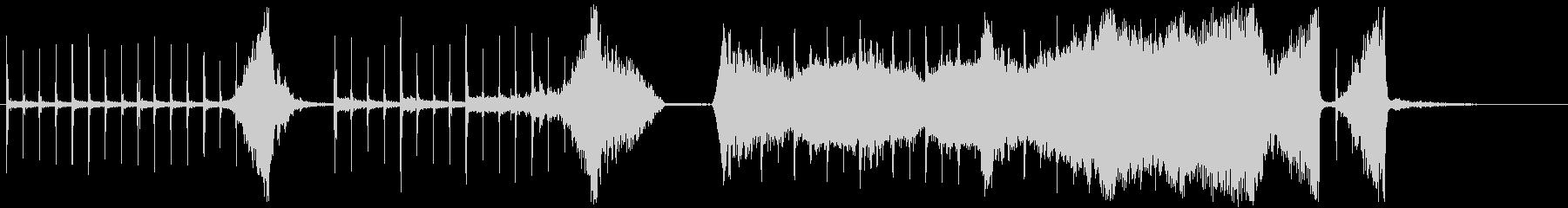 クリック音の緊張感・ホラーサスペンス風の未再生の波形