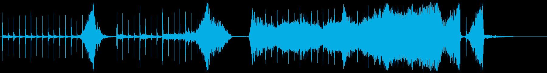 クリック音の緊張感・ホラーサスペンス風の再生済みの波形