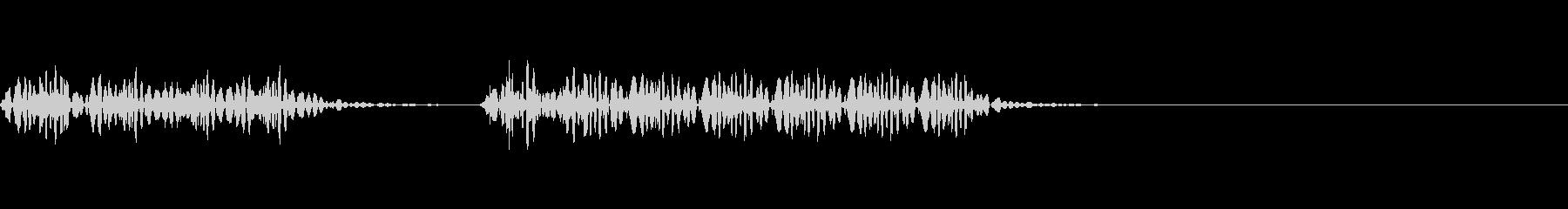 不正解のブザー音 1B ブブッの未再生の波形