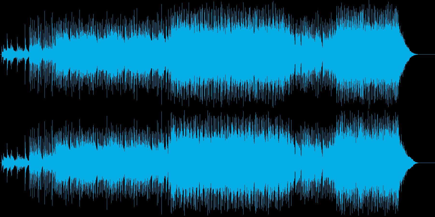 緩急のあるアメリカン・テイストのロックの再生済みの波形