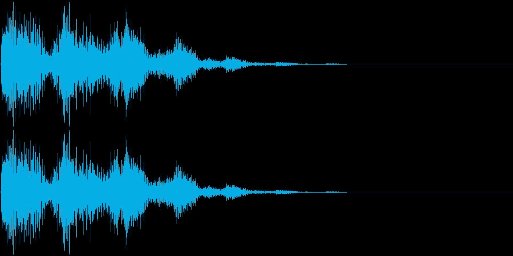 デデン(ミス、キャンセル、マイナス要素)の再生済みの波形