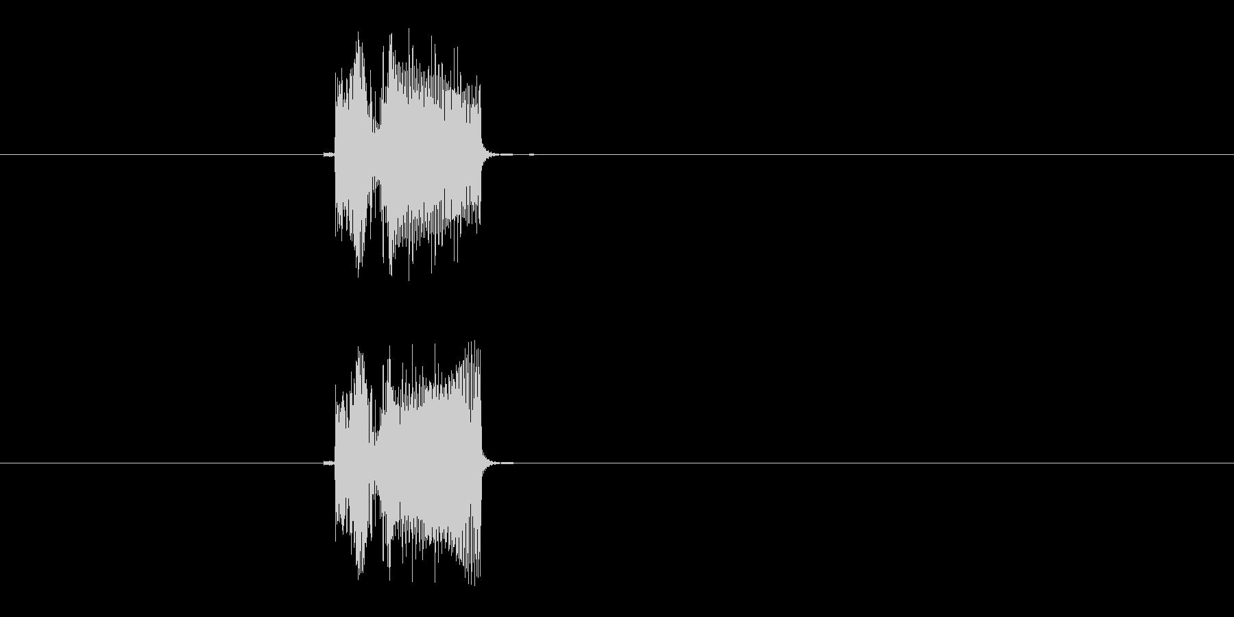 ポチッ(決定音、プッシュ音)の未再生の波形
