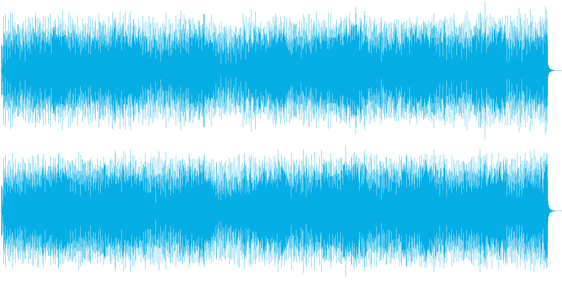 コミカルで楽しいメロディのポップスの再生済みの波形