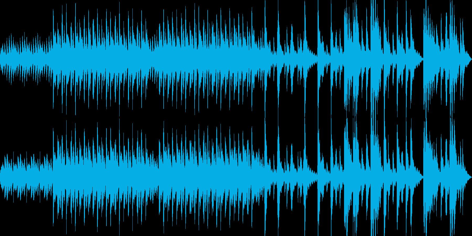 神秘的で和のテイストを感じるループBGMの再生済みの波形