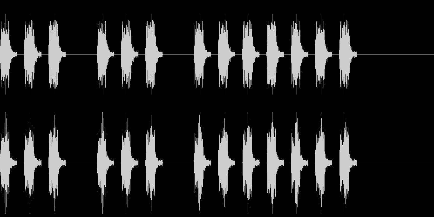 三三七拍子 その8の未再生の波形