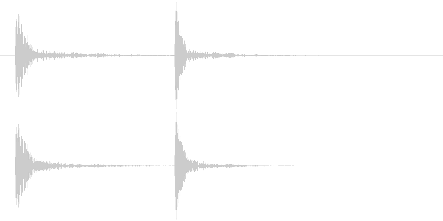 コテッの未再生の波形