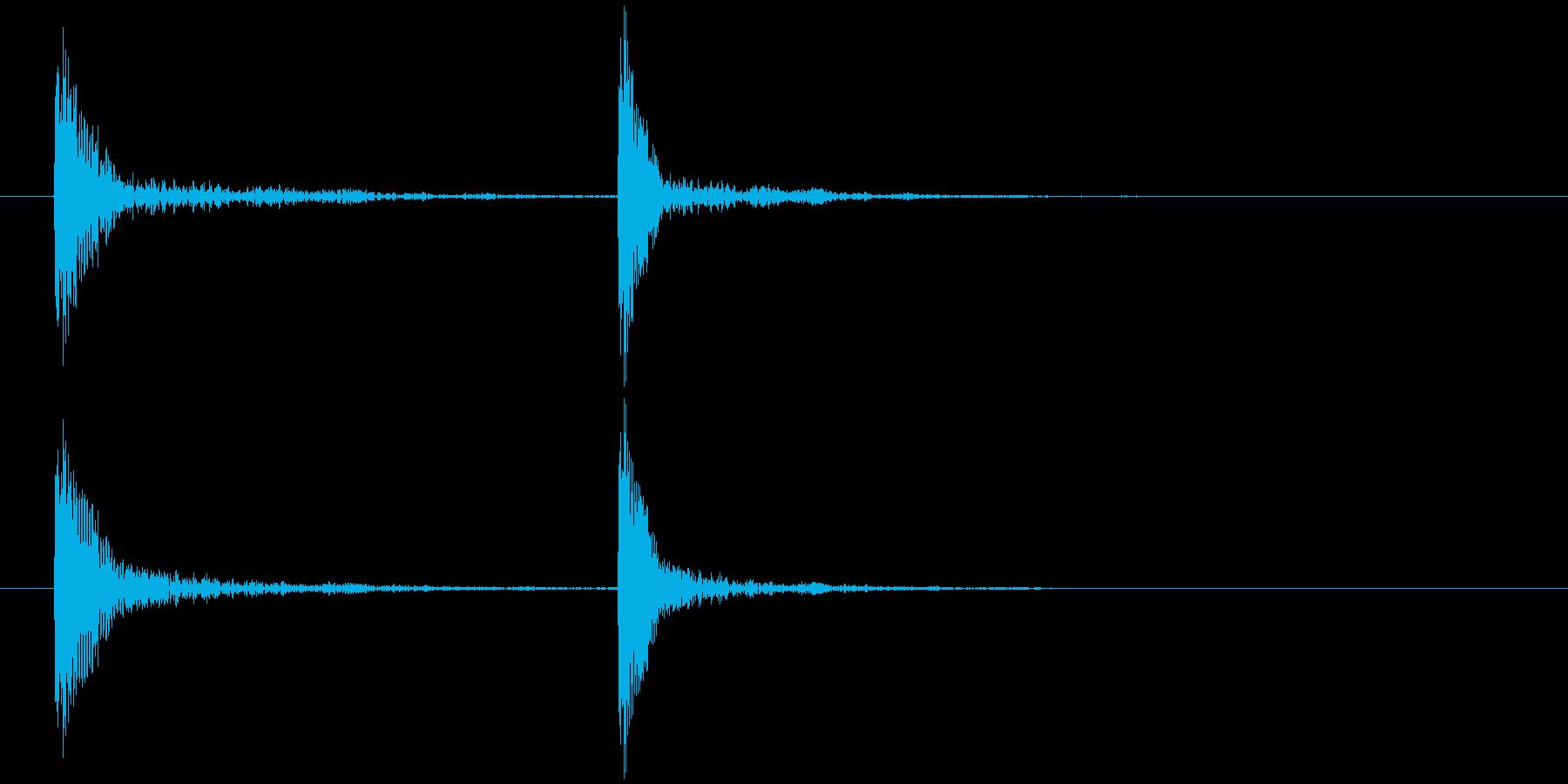コテッの再生済みの波形