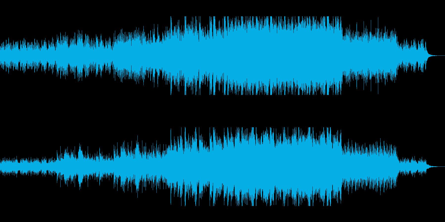 幻想的なピアノリフが続くおぼろげな楽曲の再生済みの波形