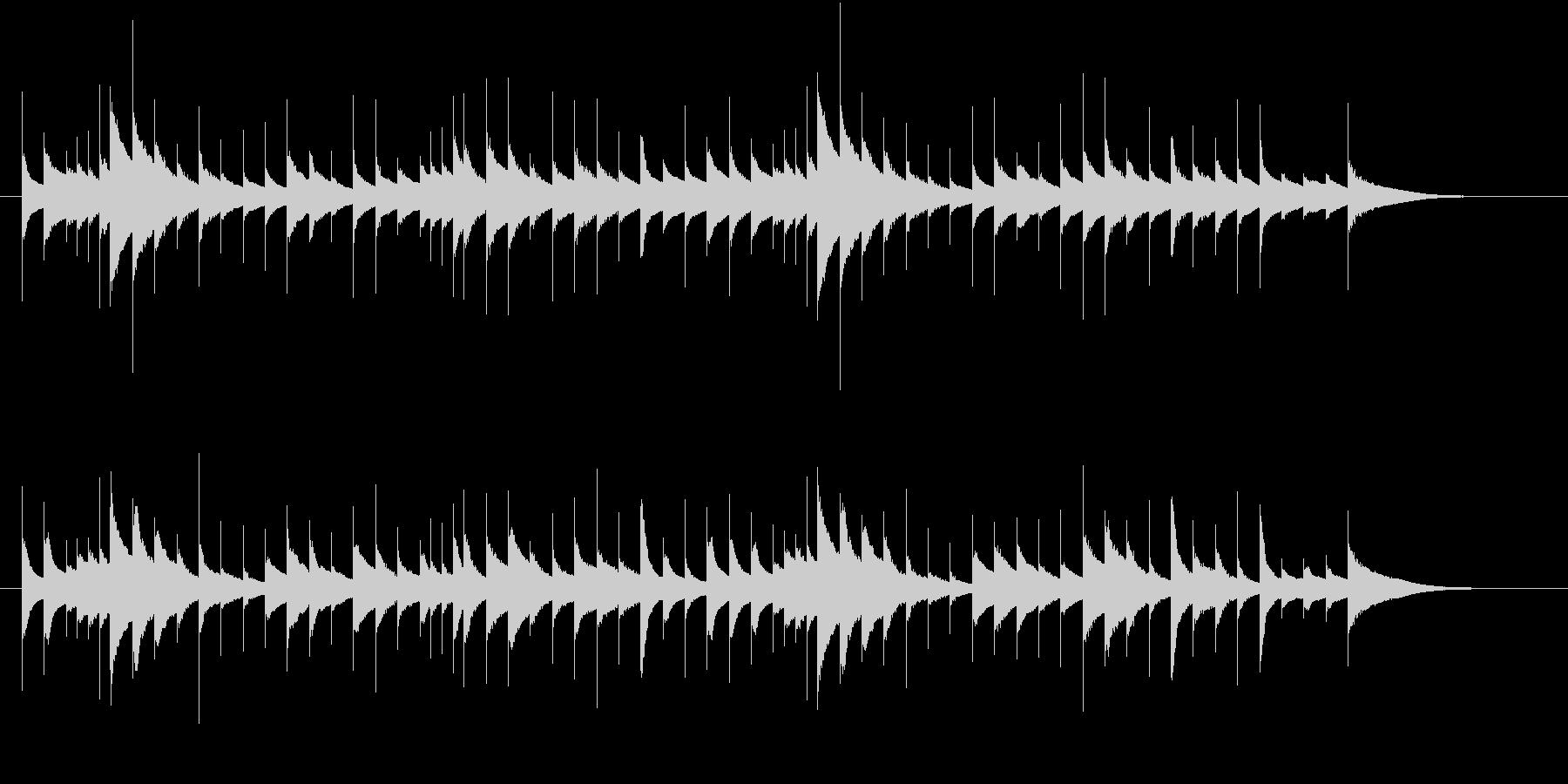 ほのぼのした雰囲気のオルゴールの未再生の波形