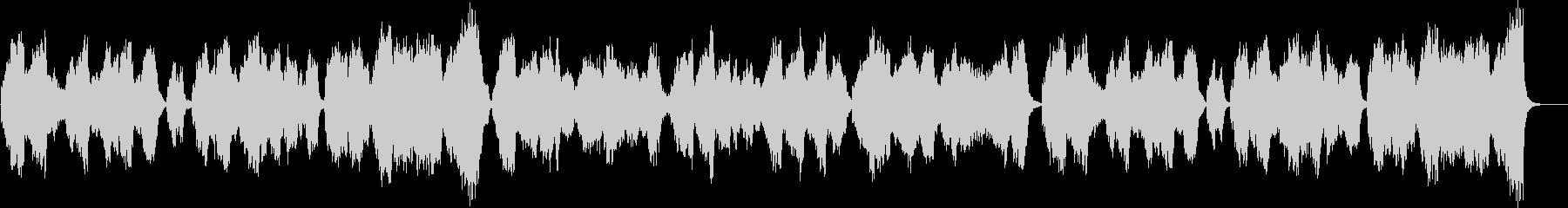 バロック風ストリングクアルテット静かな曲の未再生の波形