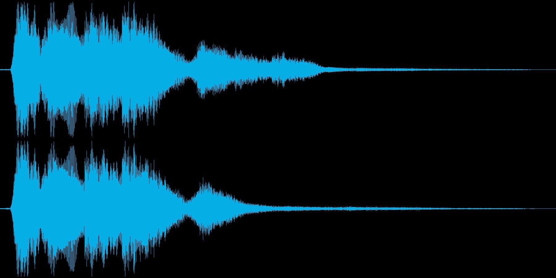 決定音(太い電子音)の再生済みの波形