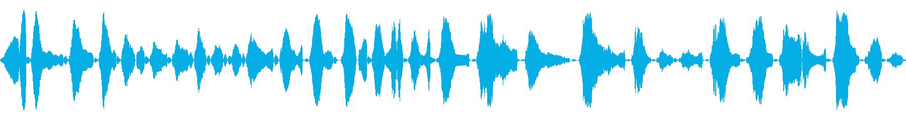 赤ちゃんの泣き声<泣き方 : 強め>の再生済みの波形