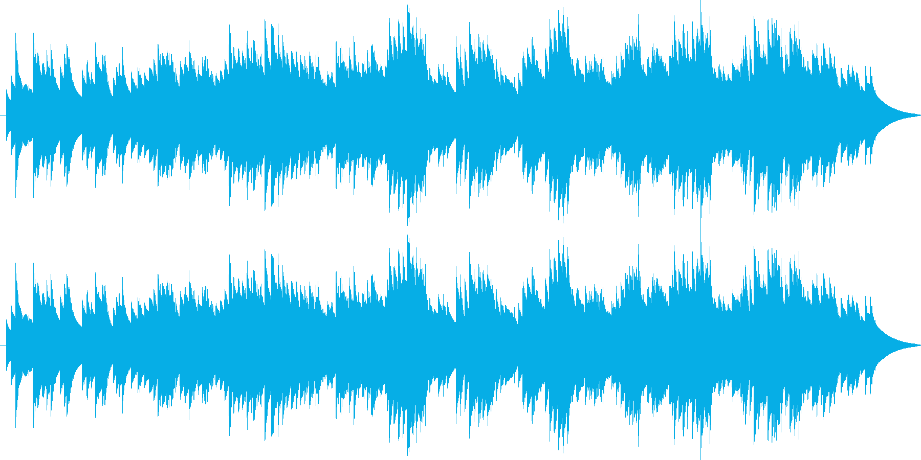 ふんわりとした優しいバラードの再生済みの波形