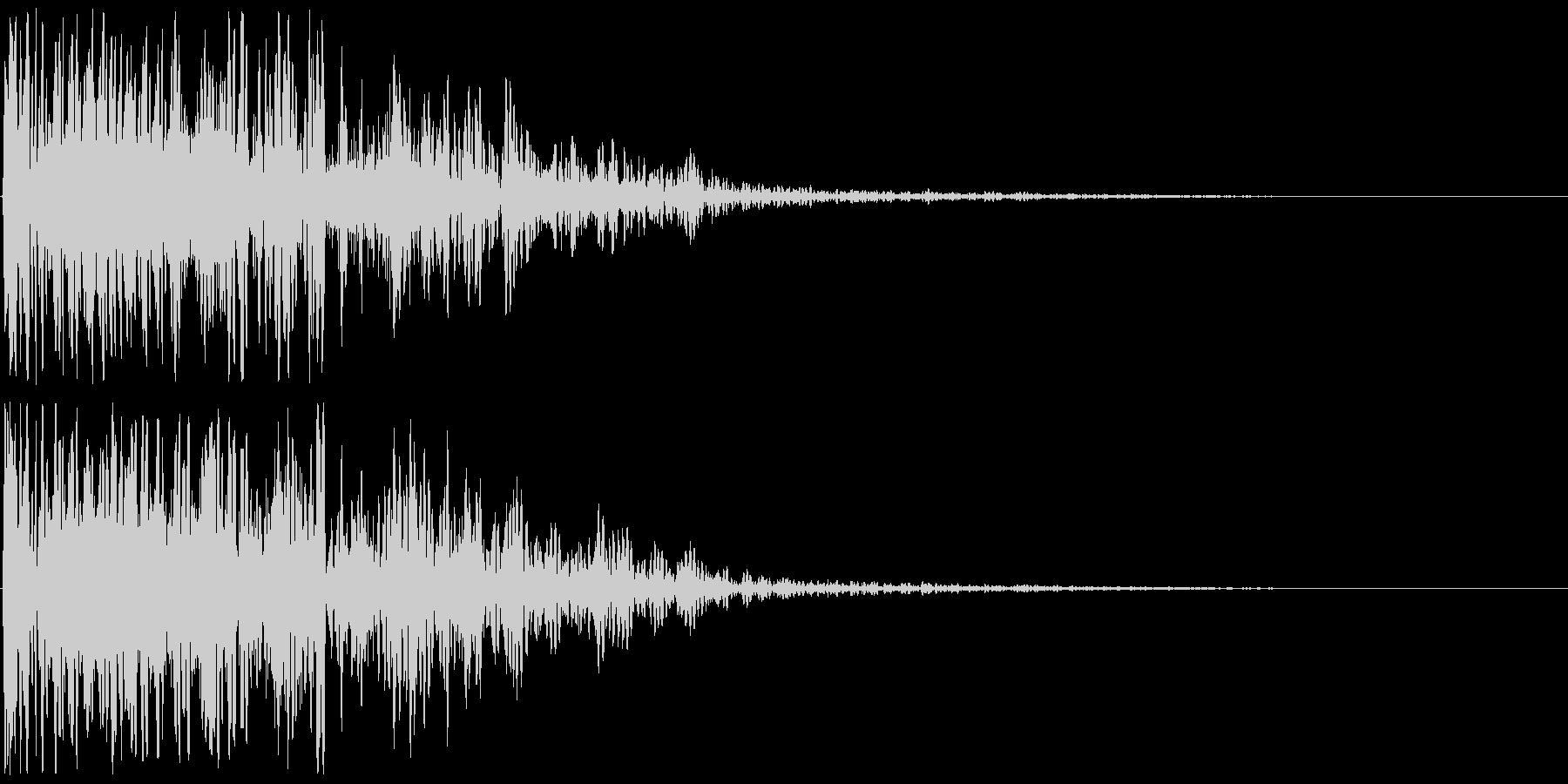 爆発音・大砲4の未再生の波形