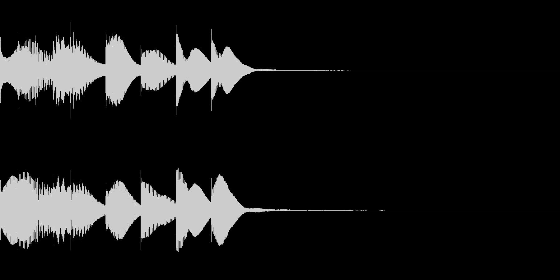 PVの短い場面転換や章変わりヒントのSEの未再生の波形