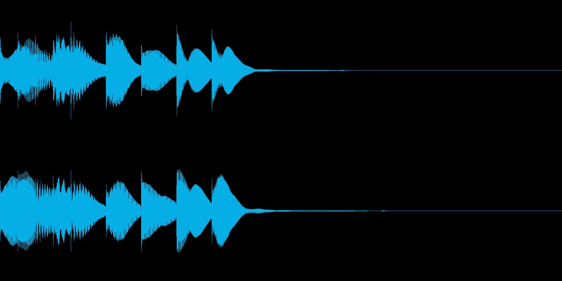 PVの短い場面転換や章変わりヒントのSEの再生済みの波形