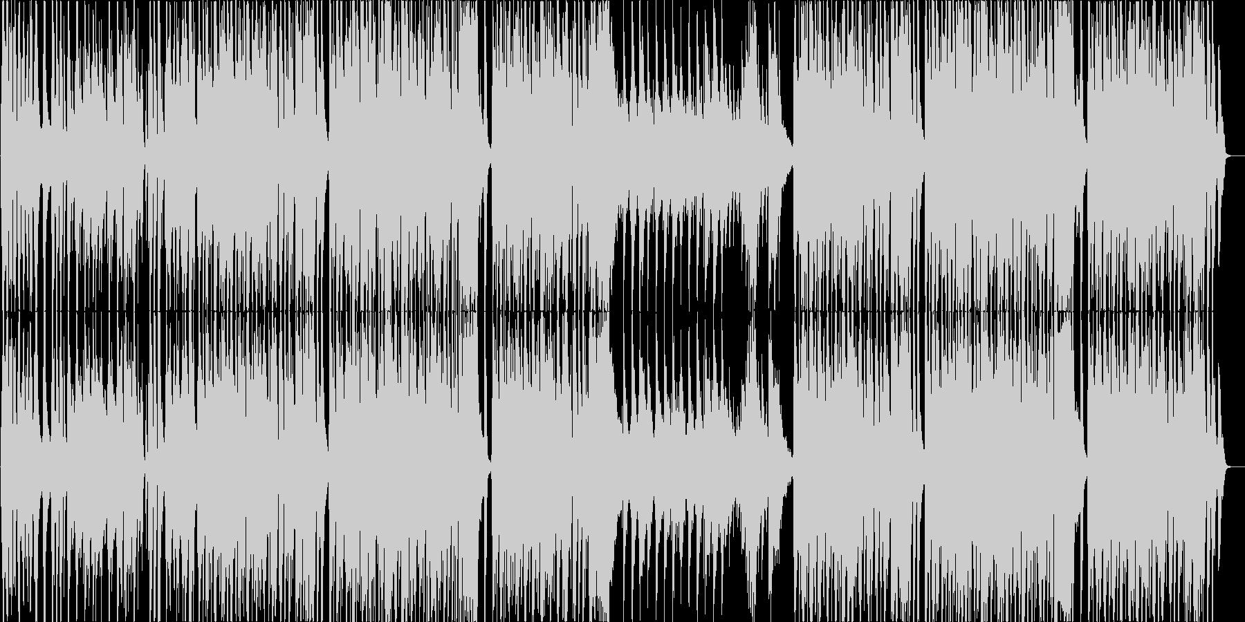 跳ねたリズムにバイオリンの明るい曲の未再生の波形