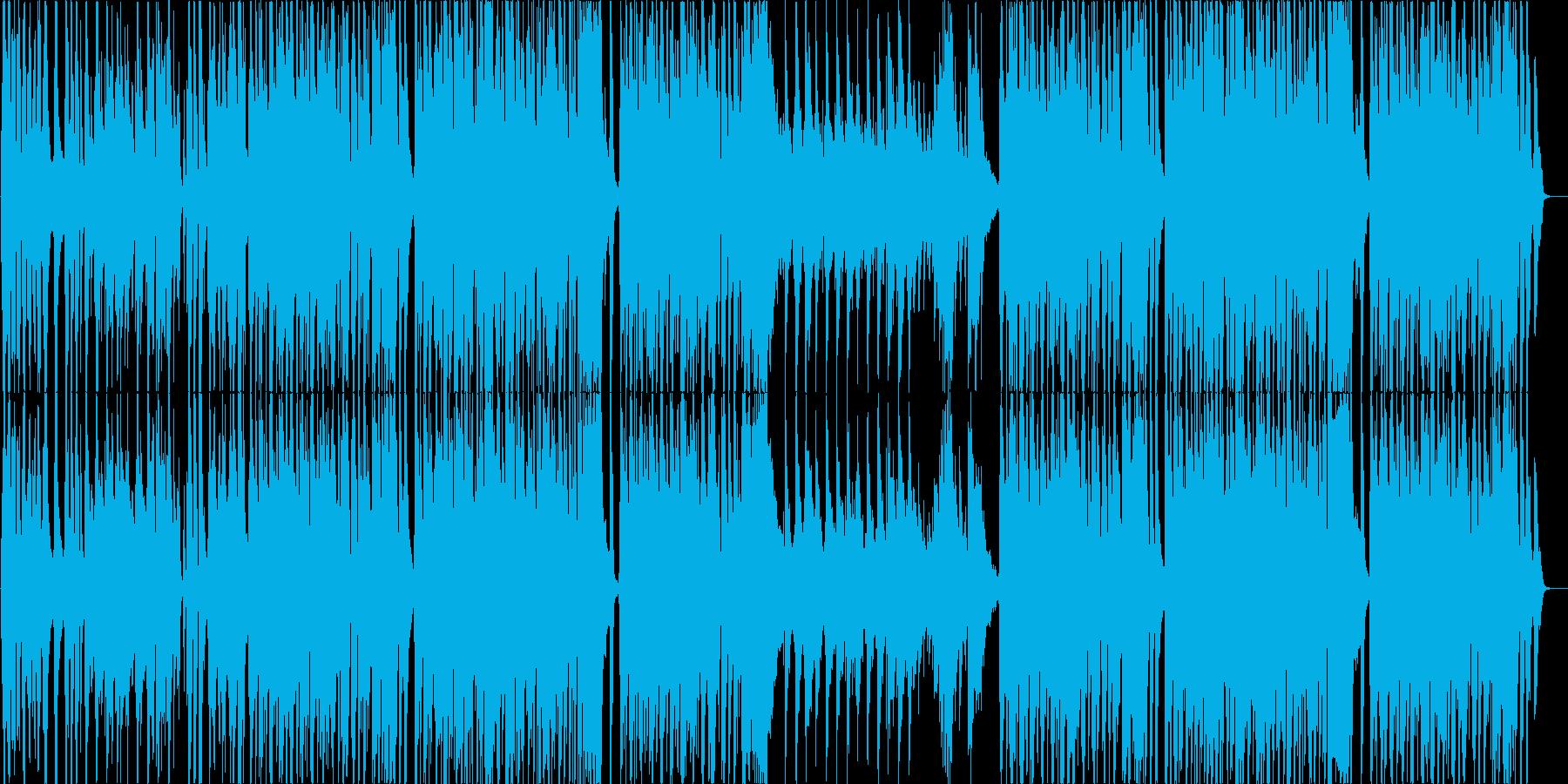 跳ねたリズムにバイオリンの明るい曲の再生済みの波形