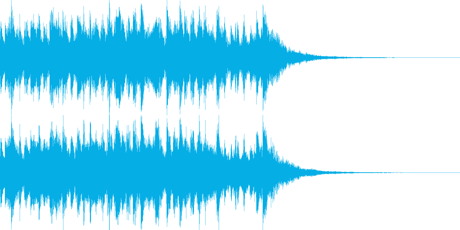 電車の発車メロディーみたいなジングルの再生済みの波形