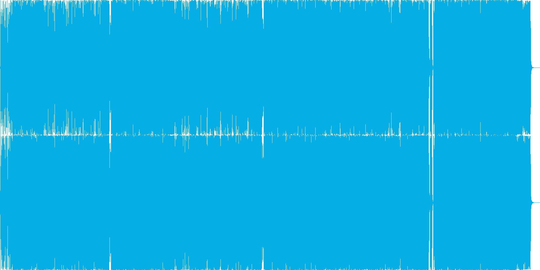 """疾走感溢れる""""銭と夢""""のネタガチ系ロックの再生済みの波形"""