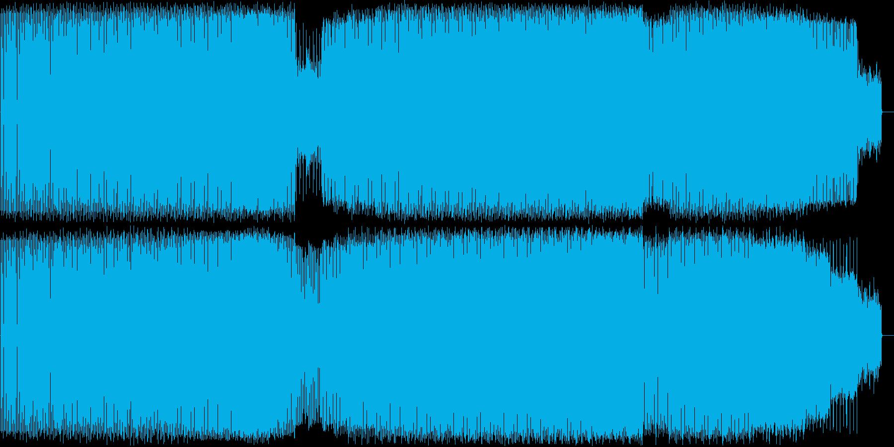 シンプルなドラムとベース、ディープハウスの再生済みの波形