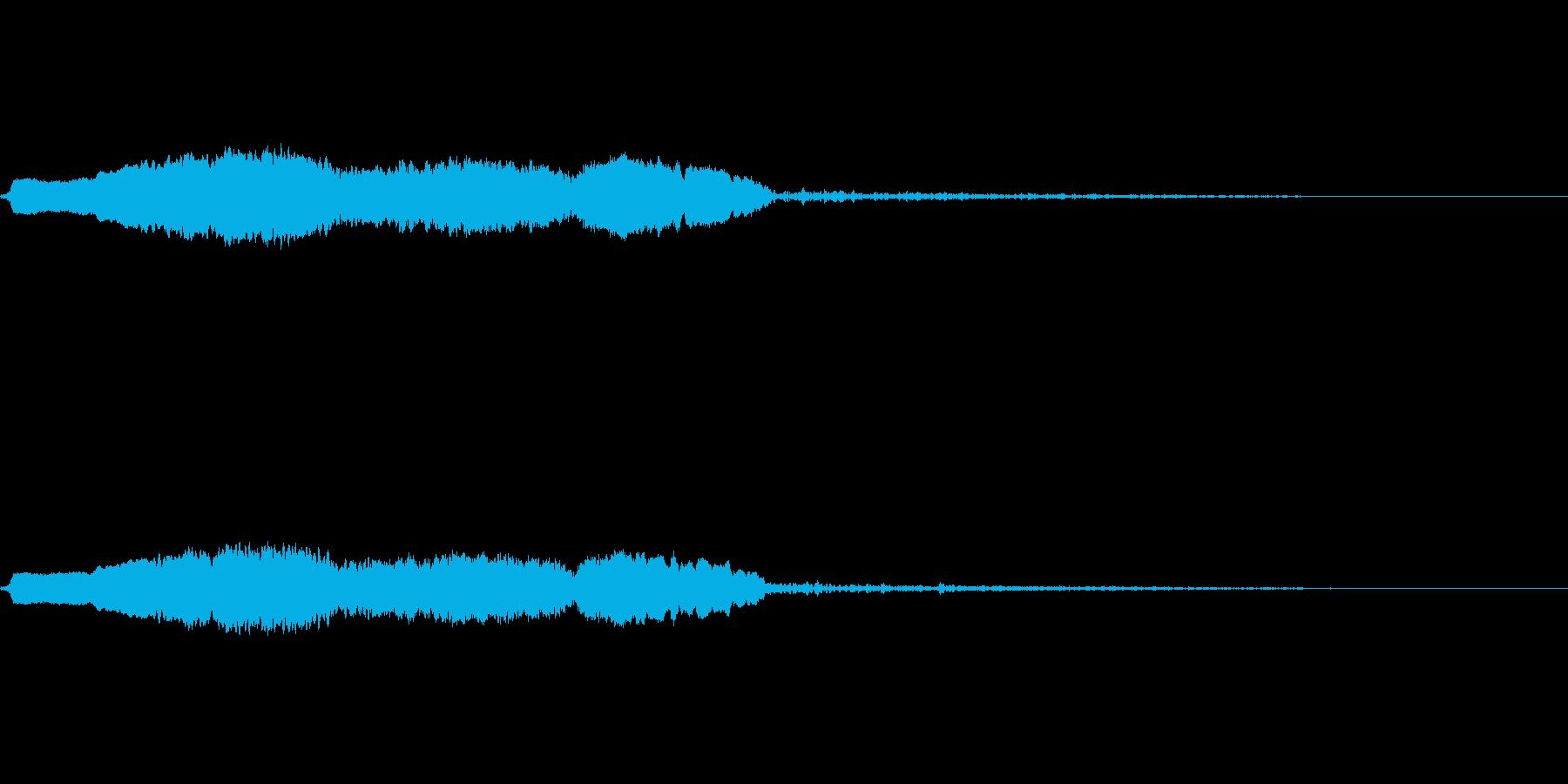 スライドホイッスル-5の再生済みの波形