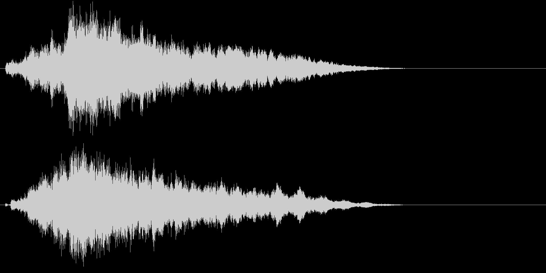 自然を意識した幻想的なサウンドロゴの未再生の波形