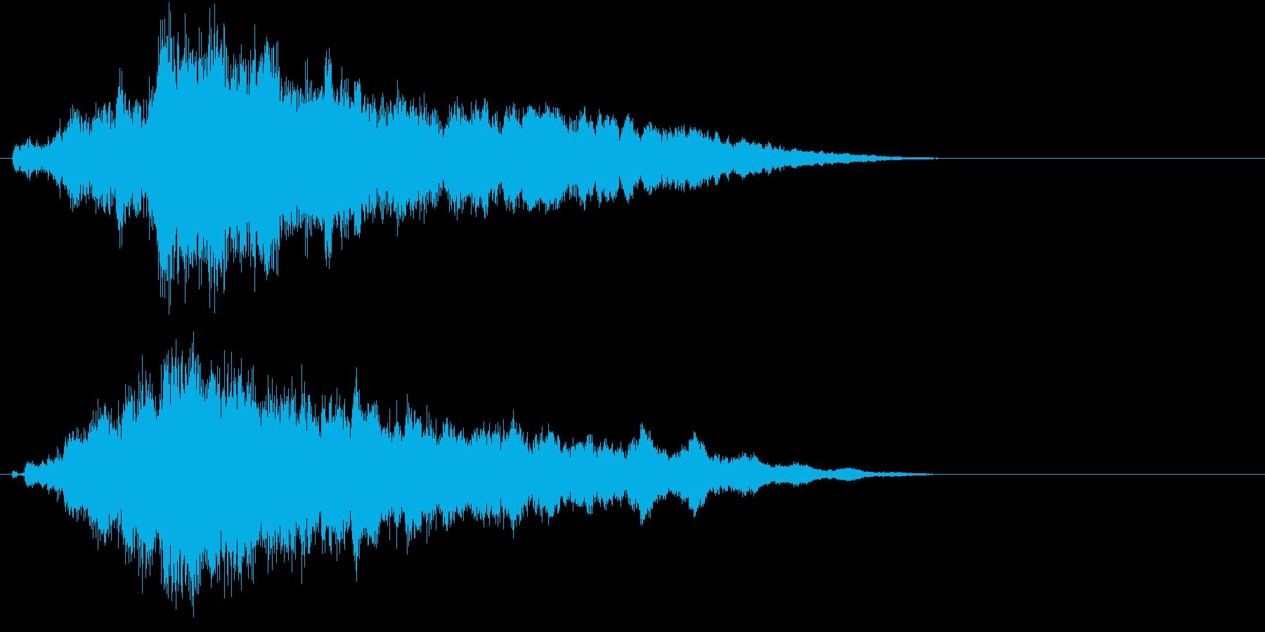 自然を意識した幻想的なサウンドロゴの再生済みの波形
