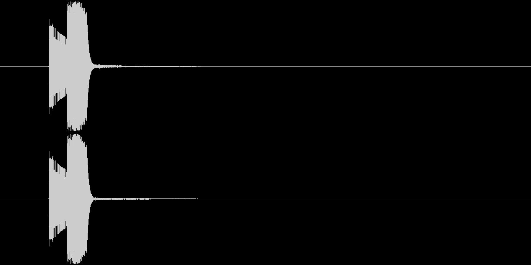 ゲーム中での決定音 操作音などの未再生の波形