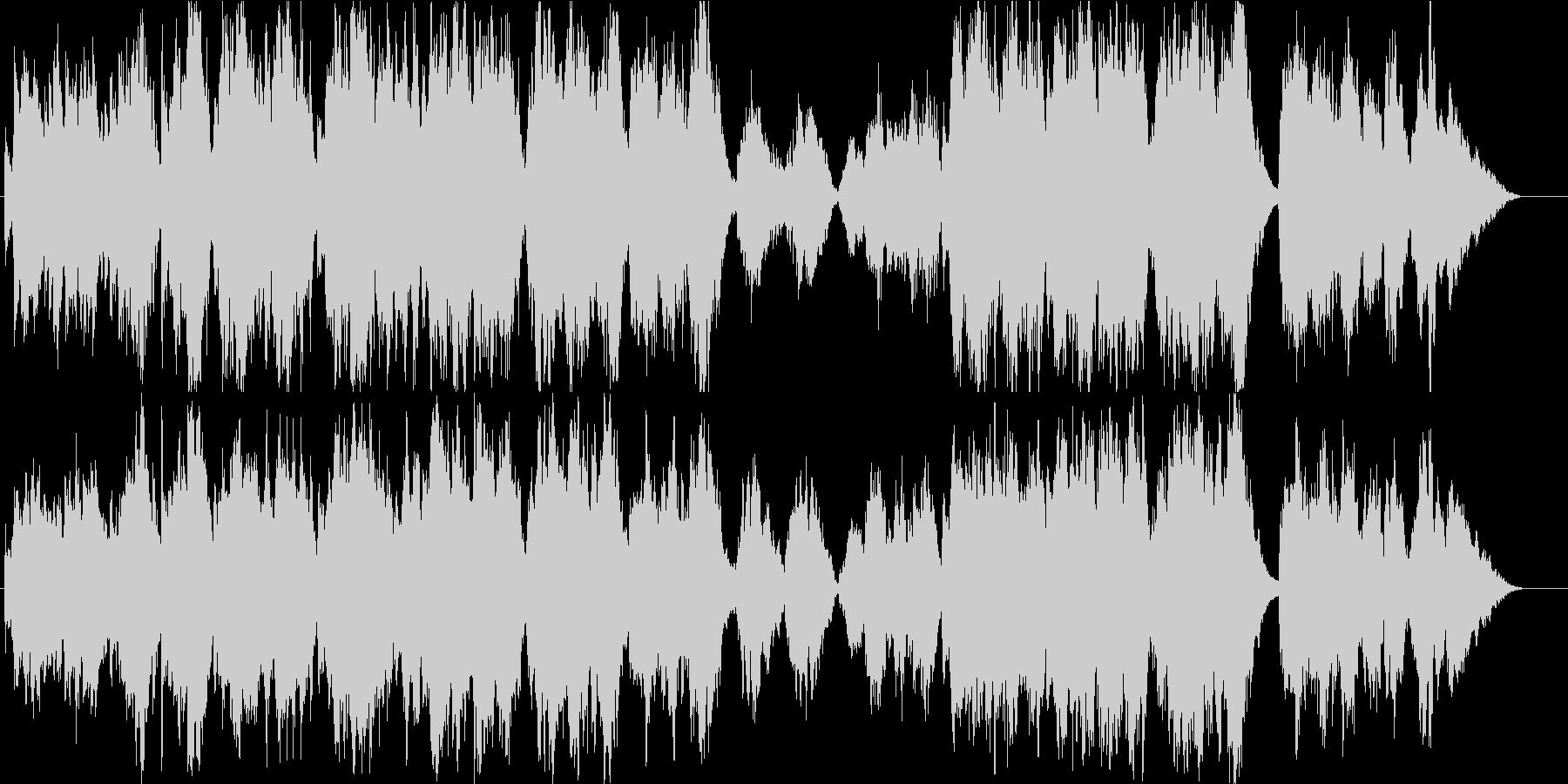 有名クリスマス曲・オーケストラアレンジの未再生の波形
