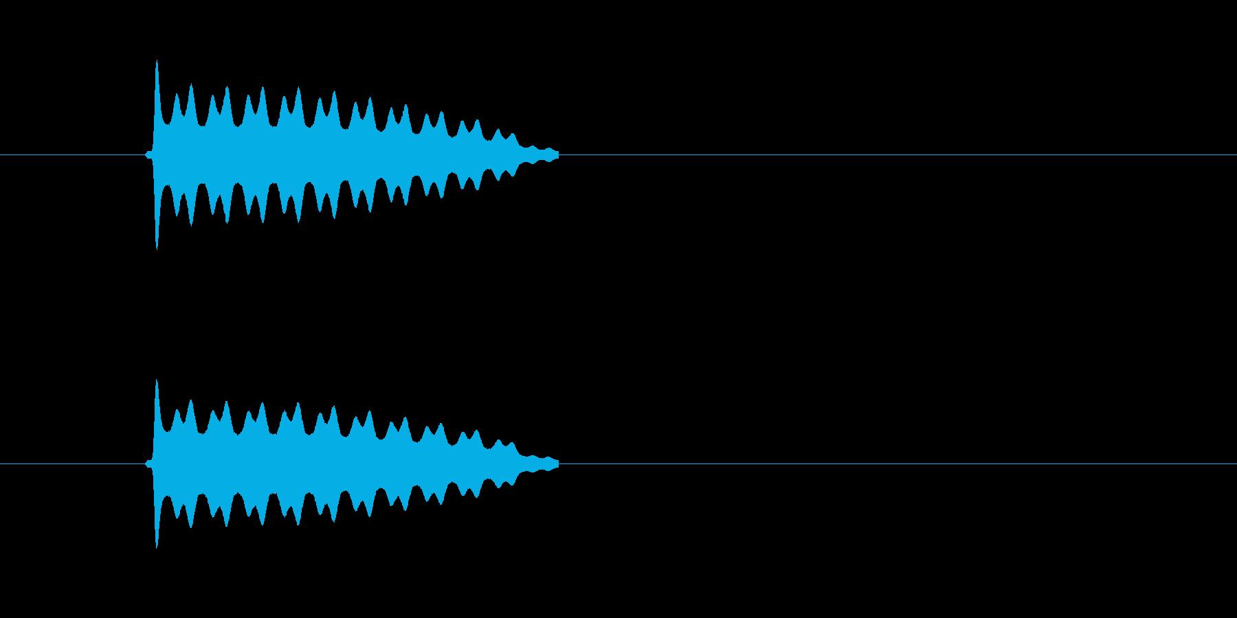 ピピピピピ!高音で響く電子音の再生済みの波形