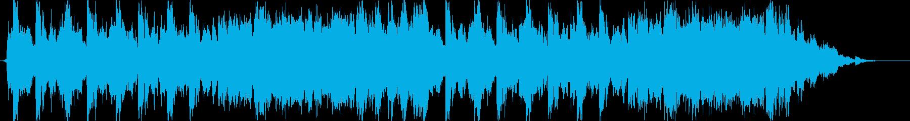 ゲーム等のタイトル画面に合うマーチ風音楽の再生済みの波形