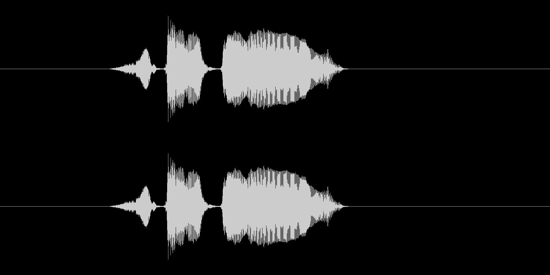 スタートーの未再生の波形