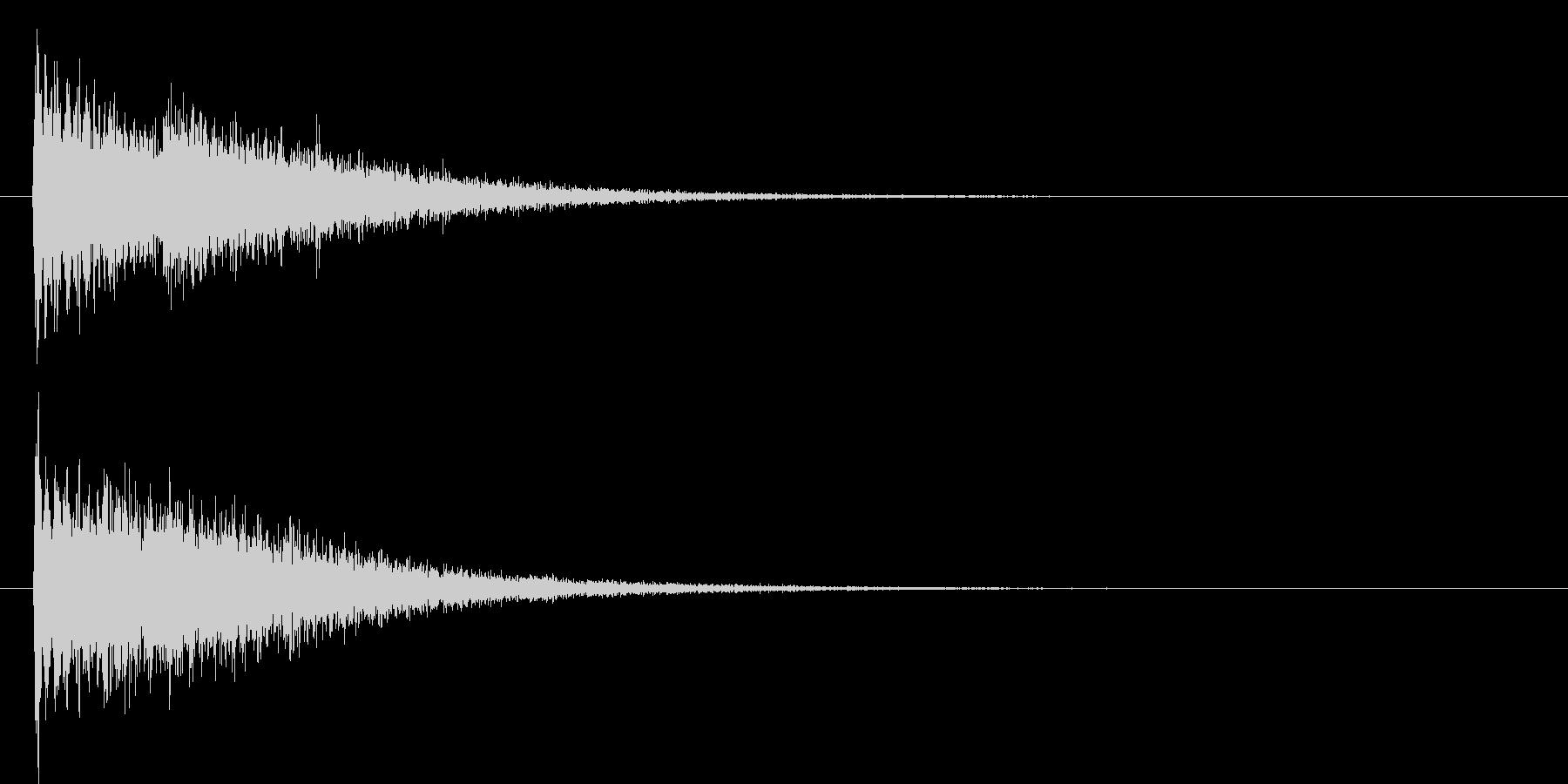 ピューーン(機械的なビーム音)の未再生の波形