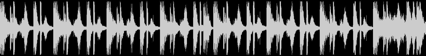ヒップホップのビートの未再生の波形