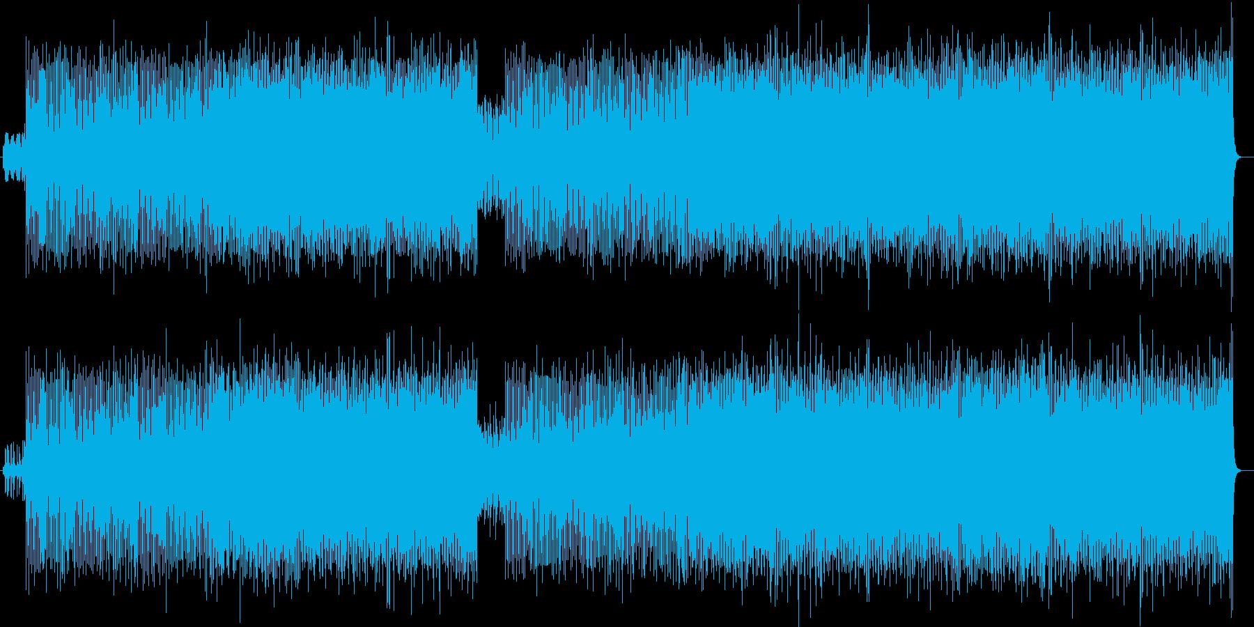 賑やか疾走感シンセ吹奏楽木琴サウンドの再生済みの波形