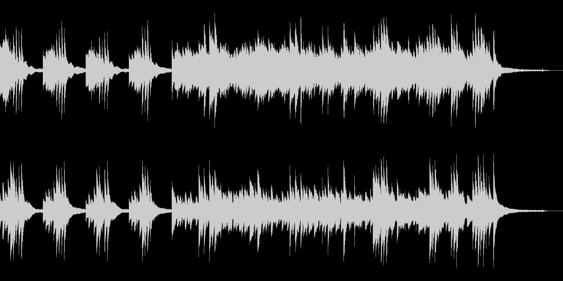 不穏な雰囲気のピアノ(暗い)の未再生の波形