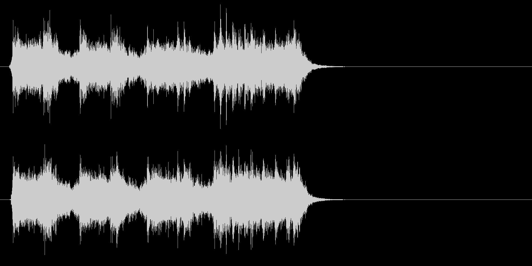 ロック、ヘヴィメタル系ジングルの未再生の波形