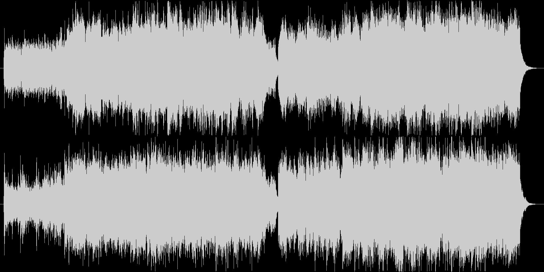 ピアノとソプラノ、ギターの神秘的な曲の未再生の波形