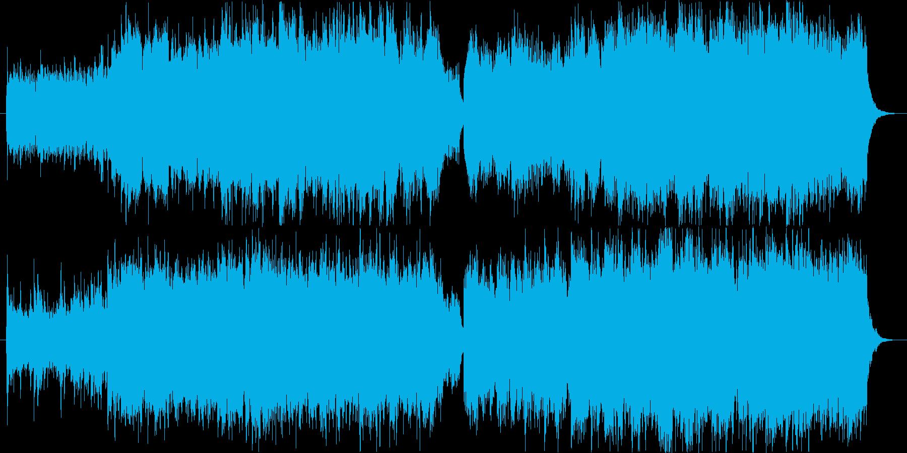 ピアノとソプラノ、ギターの神秘的な曲の再生済みの波形