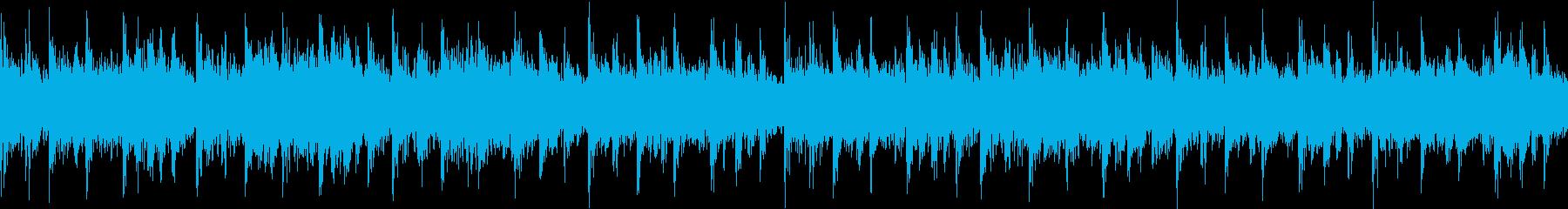 激しいテクノループです。の再生済みの波形