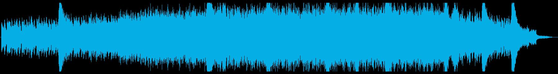 堂々たる曲調のドキュメンタリー的なBGMの再生済みの波形