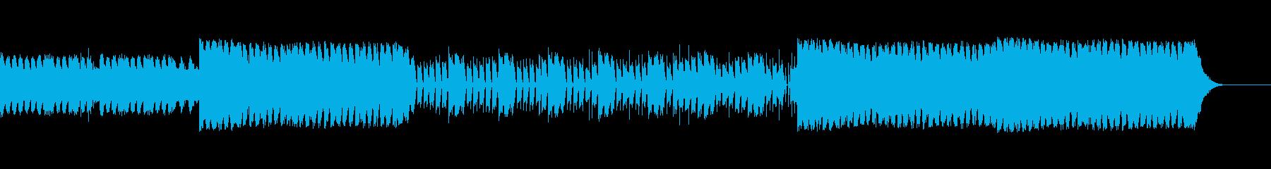 激しいスラップギターロックの再生済みの波形