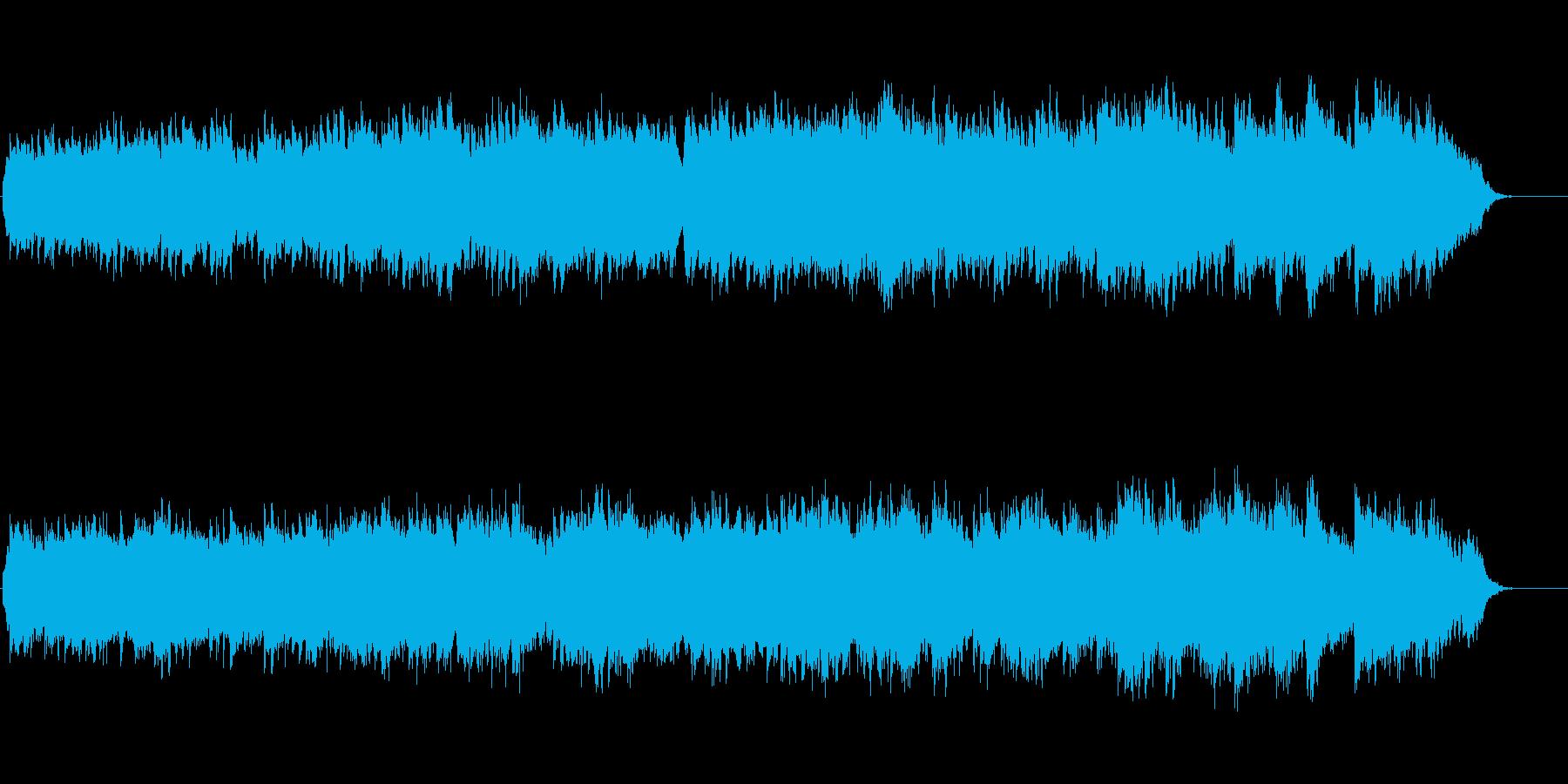 爽やかでほのぼのしたピアノとフルート曲の再生済みの波形
