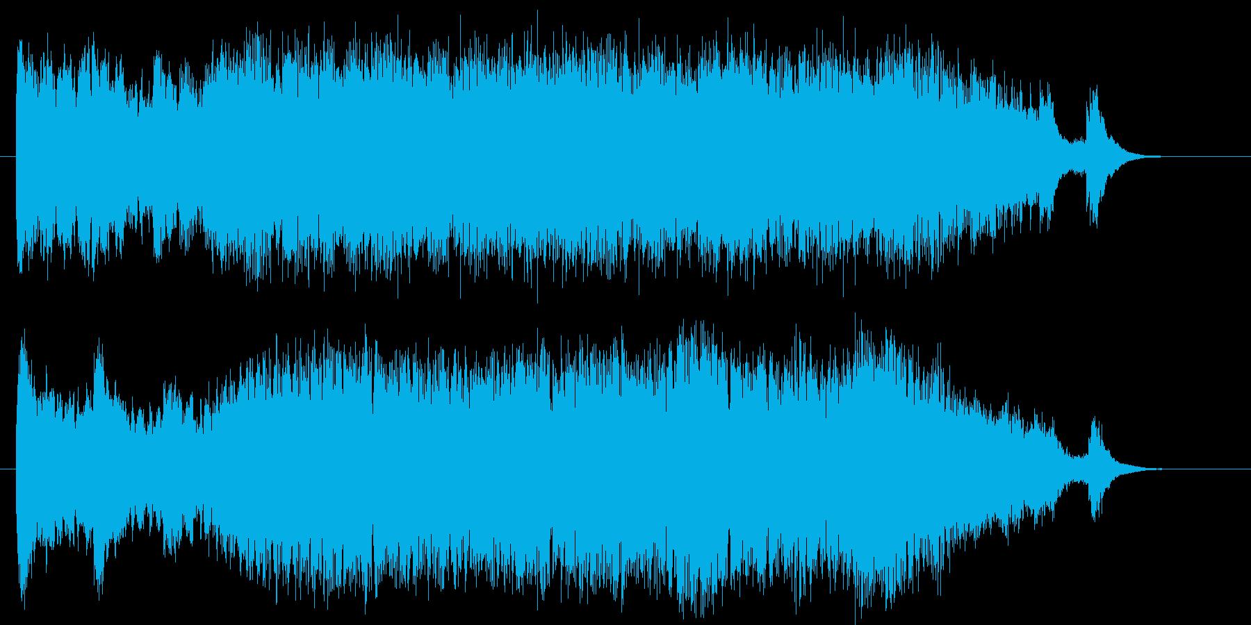 和風でメロディアスなシンセジングルの再生済みの波形